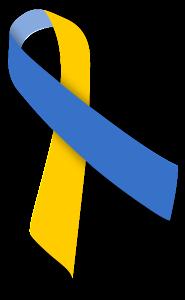 アウェアネス,リボン,Awareness,Ribbon,ブルー,イエロー,ダウン症