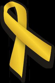 アウェアネス,リボン,Awareness,Ribbon,ゴールド,小児がん