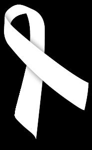アウェアネス,リボン,Awareness,Ribbon,白,ホワイト,平和